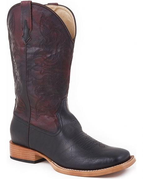 Roper Faux Leather Cowgirl Boots - Square Toe