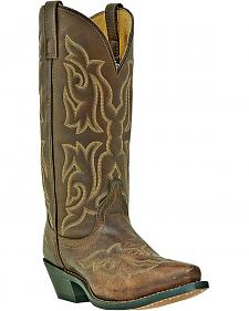 Laredo Stitched Vamp and Shaft Cowgirl Boots - Snip Toe