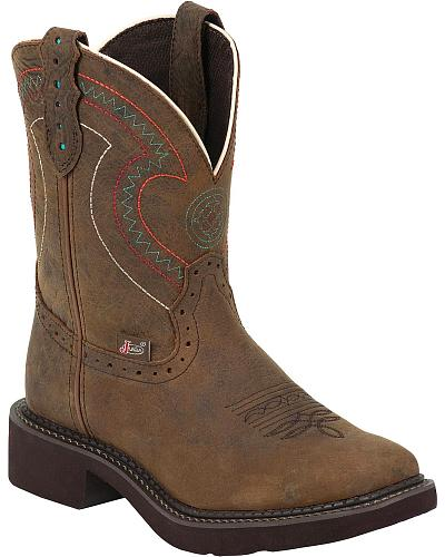 Justin Cowhide Gypsy Boots Square Toe Western & Country L9997