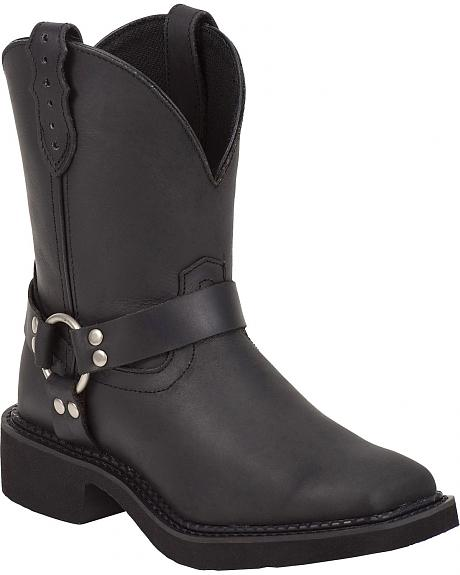 Justin Crazy Horse Harness Gypsy Boots - Square Toe