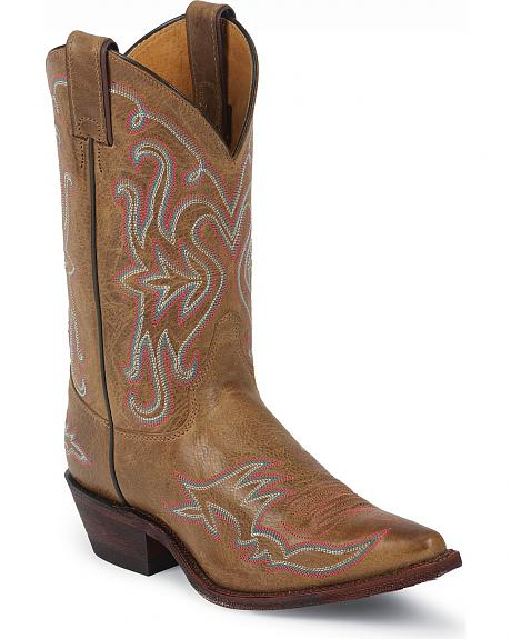 Justin Bent Rail Arizona Mocha Cowgirl Boots - Snip Toe
