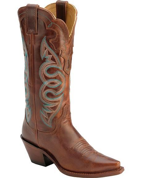 Justin Saddle Torino Cowgirl Boots - Snip Toe