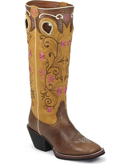 Tony Lama 3R Series Brown Travis Cowgirl Boots - Square Toe