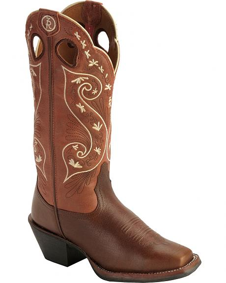 Tony Lama 3R Series Walnut Brown Travis Cowgirl Boots - Square Toe