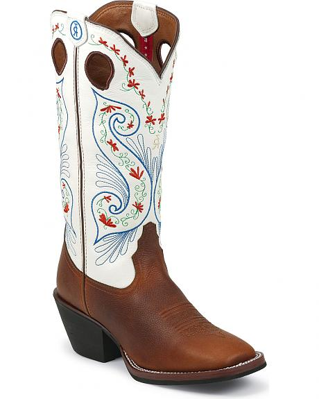 Tony Lama 3R Series Sierra Cimarron Cowgirl Boots - Square Toe