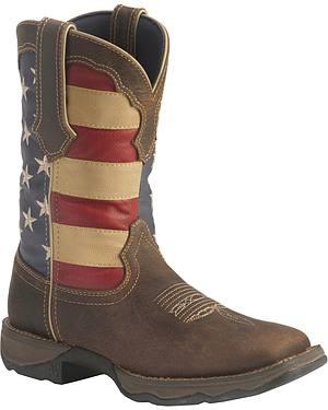 Durango American Flag Flirt Cowgirl Boots - Square Toe