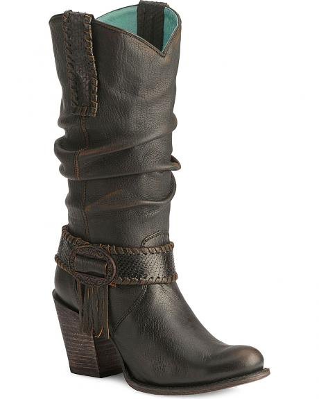 Corral Europa Lamb Slouch Boots - Round Toe