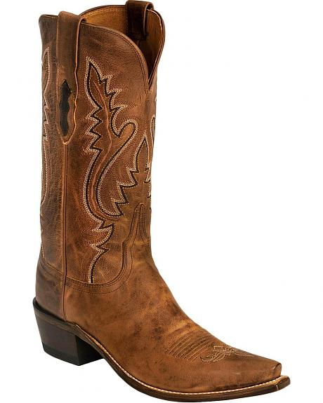 Lucchese Handcrafted Madras Goatskin Cowgirl Boots - Snip Toe