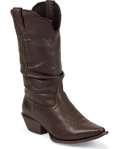 Nocona Competitor Slouch Cowgirl Boots - Snip Toe