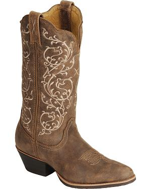 Twisted  X Fancy Stitched Cowgirl Boots - Medium Toe