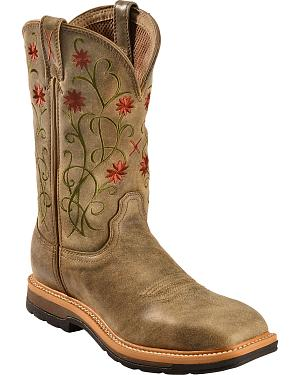 Twisted X Floral Stitched Roughstock Cowgirl Boots - Steel Toe