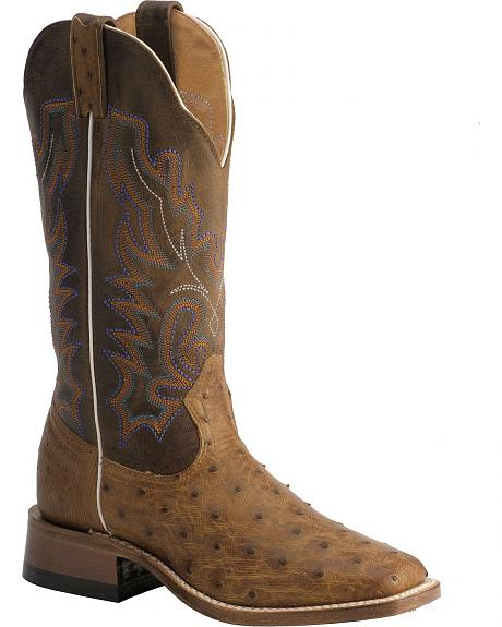 Boulet Mad Dog & Ostrich Ranger Cowgirl Boots - Square Toe