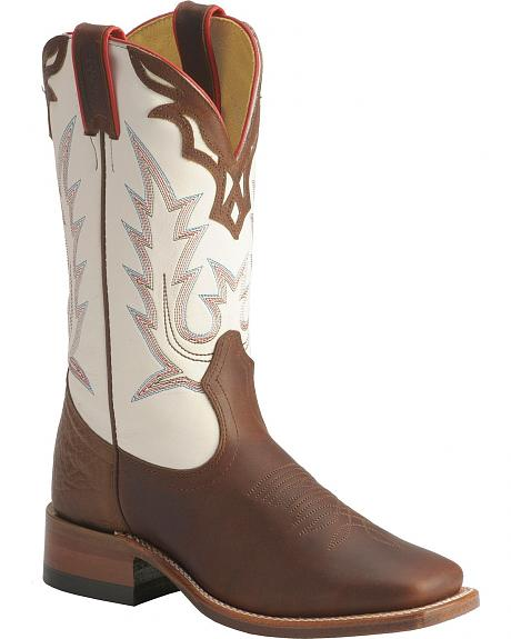Boulet Fancy Stitched Shaft Cowgirl Boots - Square Toe