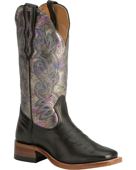 Boulet Metallic Shine Cowgirl Boots - Square Toe