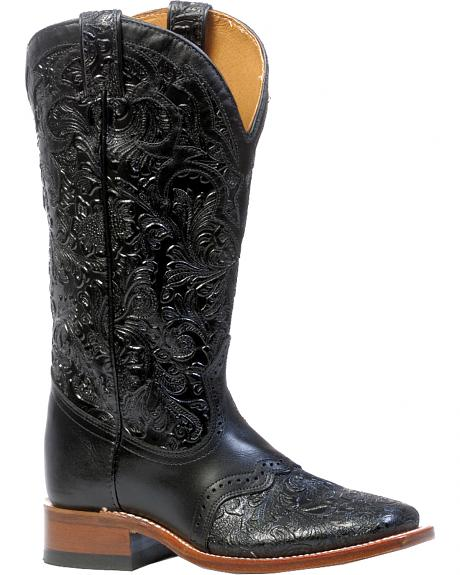 Boulet Hand Tooled Ranger Cowgirl Boots - Square Toe