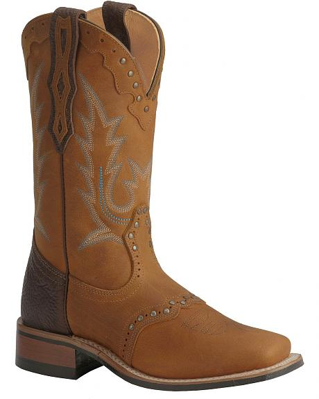 Boulet Buffalo Honey Rider Cowgirl Boots - Square Toe
