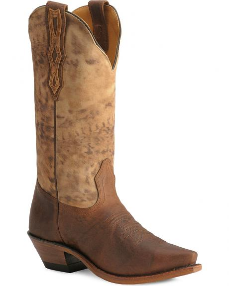 Boulet Ocre Shaft Cowgirl Boots - Snip Toe
