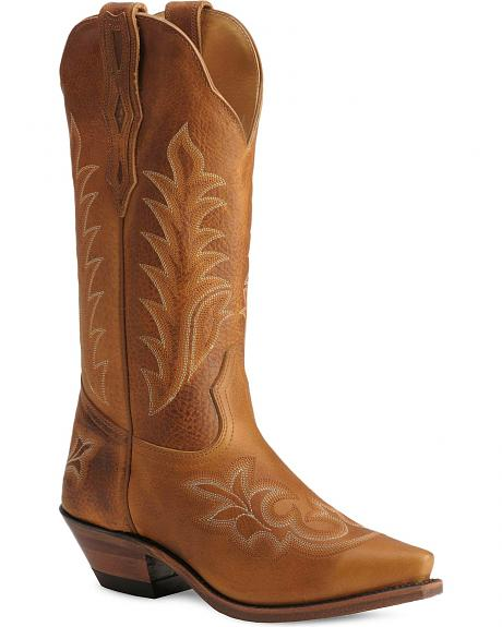 Boulet Laced & Distressed Leather Cowgirl Boots - Snip Toe