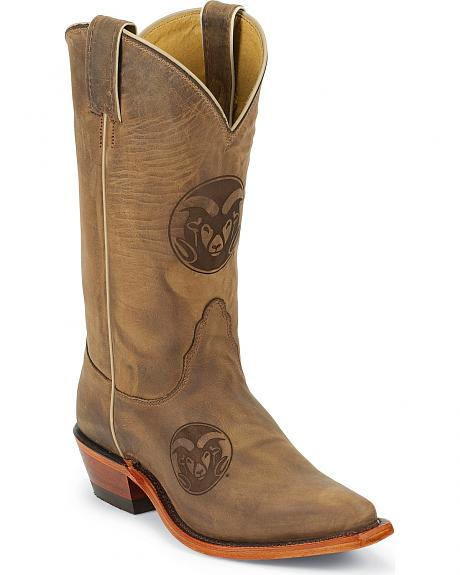 Nocona Colorado State University College Cowgirl Boots - Snip Toe
