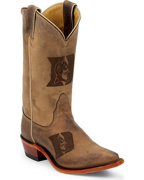 Nocona Duke University College Cowgirl Boots - Snip Toe