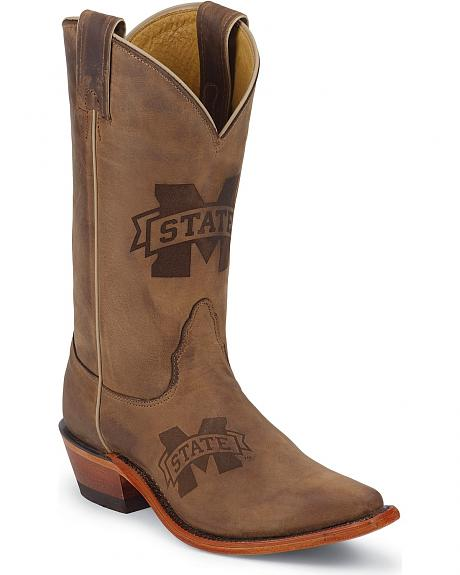 Nocona  Mississippi State University College Cowgirl Boots - Snip Toe