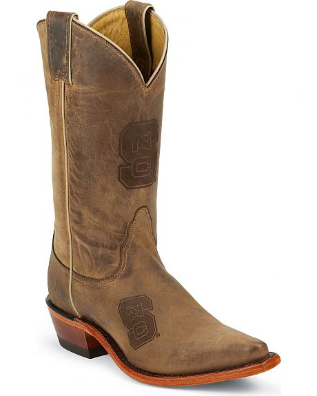 Nocona North Carolina State University College Cowgirl Boots - Snip Toe