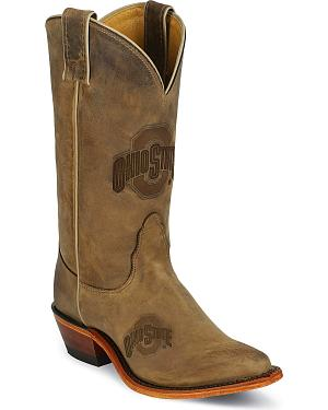 Nocona Ohio State University College Cowgirl Boots - Snip Toe