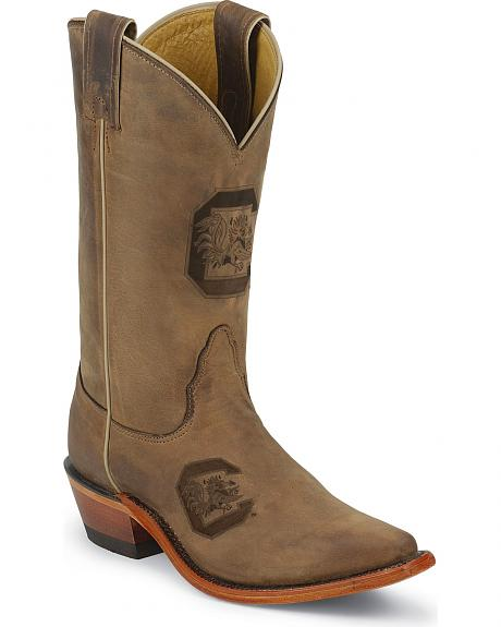 Nocona South Carolina University College Cowgirl Boots - Snip Toe