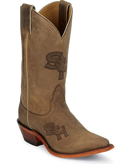 Nocona Sam Houston State University College Cowgirl Boots - Snip Toe
