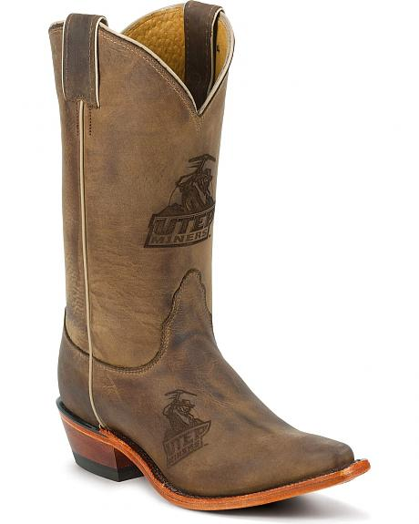 Nocona Women's University of Texas El Paso College Cowgirl Boots - Snip Toe