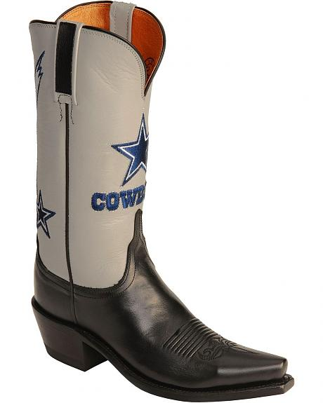 Lucchese 1883 Dallas Cowboys Black Cowgirl Boots - Snip Toe