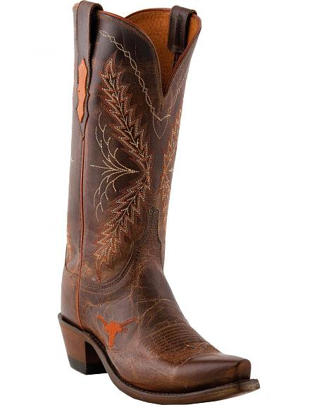 Lucchese 1883 Texas Longhorns Madras Goat Cowgirl Boots - Snip Toe