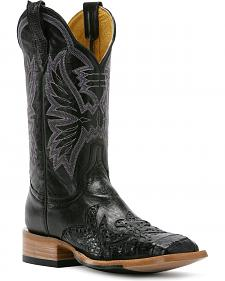 Cinch Classic Caiman Wingtip Cowgirl Boots - Square Toe