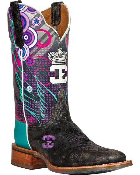 Cinch Edge Queenish Cowgirl Boots - Square Toe