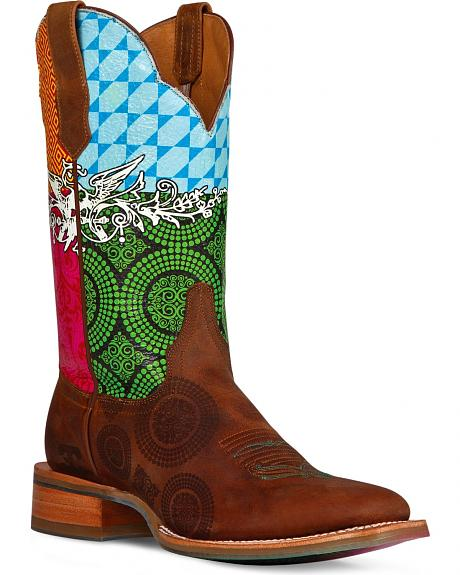 Cinch Edge Festival Cowgirl Boots - Square Toe