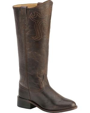 Old West Riding Boots - Round Toe