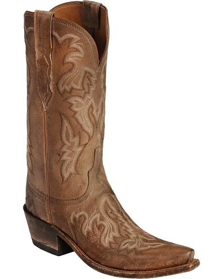 Lucchese Handcrafted 1883 Brianna Saffia Goat Cowgirl Boots - Snip Toe