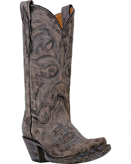 Dan Post Sanded Leather Cowgirl Boots - Pointed Toe