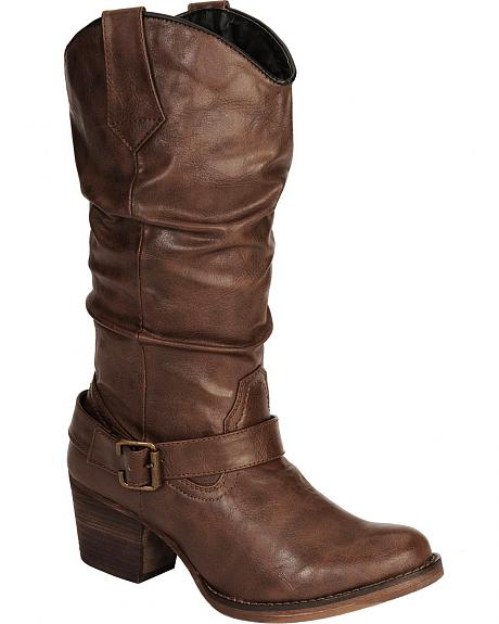 Dingo Pretender Buckle Harness Boots - Round Toe