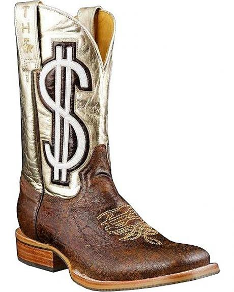 Tin Haul Gold Digger Cowgirl Boots - Square Toe