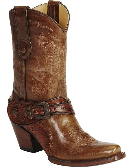 Corral Saltillo Golden Harness Cowgirl Boots - Snip Toe