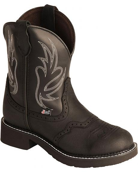 Justin Gypsy Cowgirl Black Boots - Round Toe