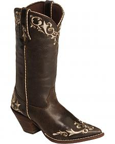 Durango Crush Floral Embroidered Cowgirl Boots - Pointed Toe