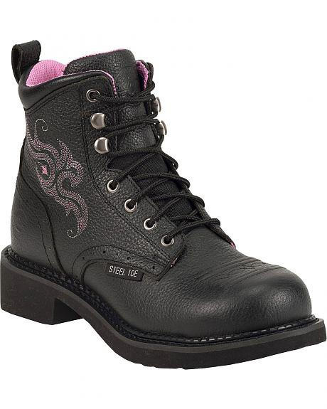 Justin Gypsy Pebble Grain Work Boots - Steel Toe