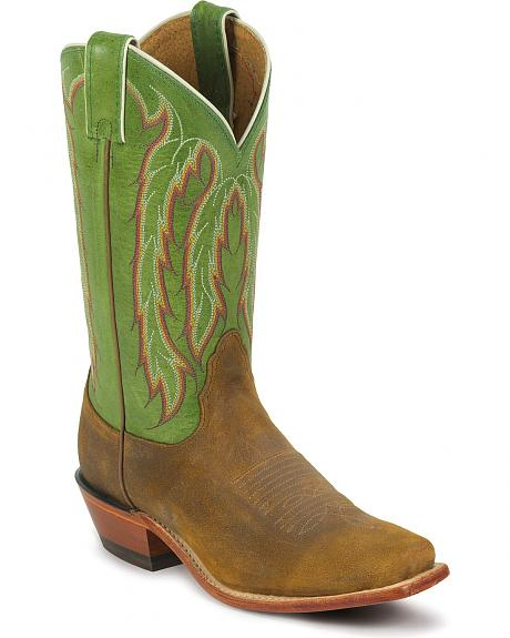 Nocona Green Willow Cowgirl Boots - Snip Toe