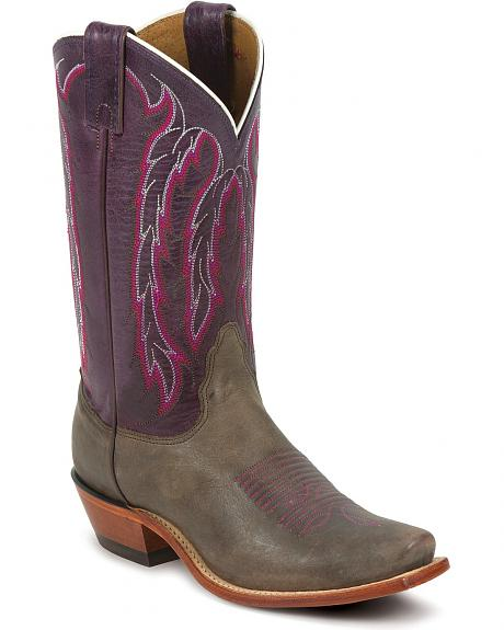 Nocona Purple Willow Cowgirl Boots - Snip Toe