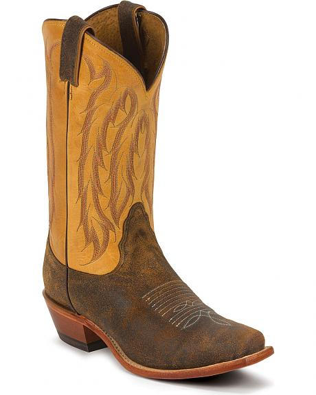 Nocona Desert Willow Crackled Cowgirl Boots - Snip Toe
