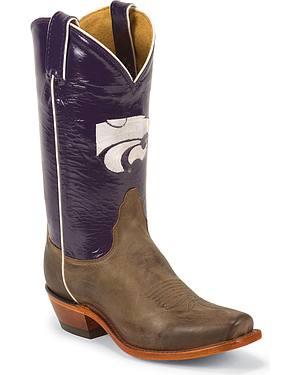 Nocona Womens Kansas State University College Boots - Snip Toe