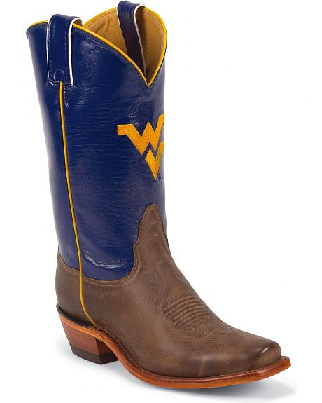 Nocona Women's University of West Virgina College Boots - Snip Toe