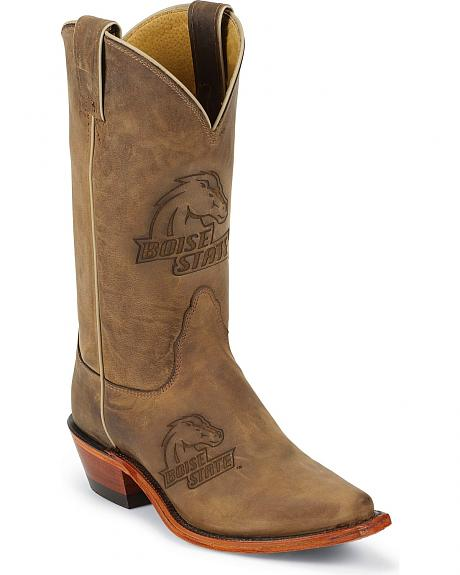 Nocona Women's Boise State College Boots - Snip Toe